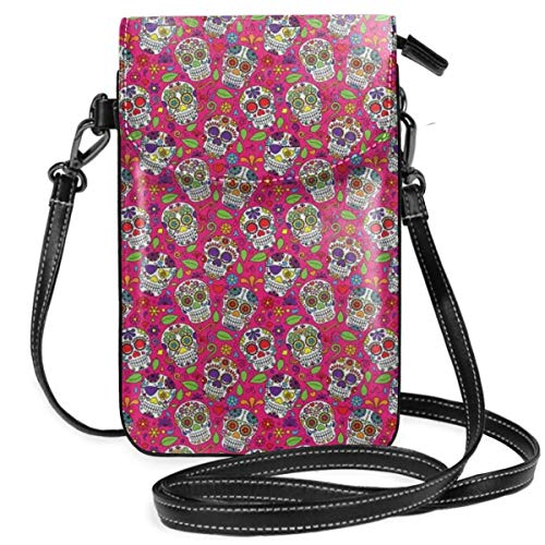 Jiger Women Small Cell Phone Purse Crossbody,All Saints Day Oriental Mexican Flowers...
