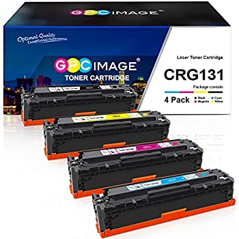 GPC Image Remanufactured Toner Cartridge Replacement for Canon 131 131H Toner to use with ImageClass MF8280Cw LBP7110Cw MF628Cw MF624Cw MF8230Cn Laser Printer  Black Cyan Magenta Yellow 4 Pack
