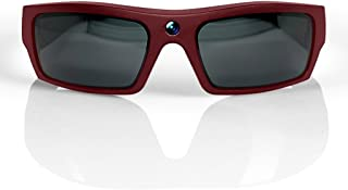 GoVision SOL 1080p HD Camera Glasses Video Recording Sport Sunglasses with Bluetooth Speakers and 15mp Camera - Maroon