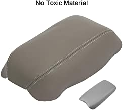 SCITOO Auto Gray Leather Armrest Center Console Lid Skin Cover Replacement fit for 2006-2011 Honda Civic