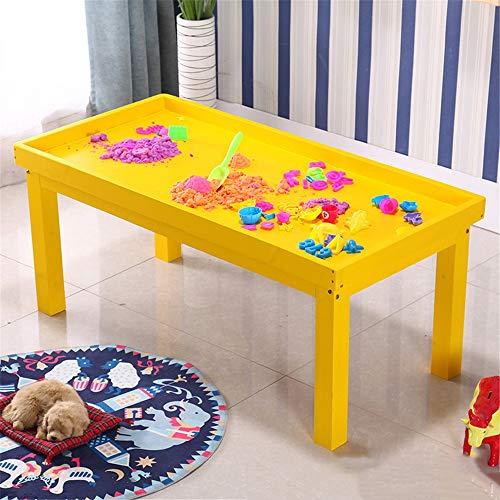 Mehrfarbiges Tisch-Stuhl-Set für Kinder Kinderspiel Sand Tabelle Massivholz Multifunktionale Bürostuhl Lehm Sand Tabelle Studie Tabelle 100x60x52cm für Kinder