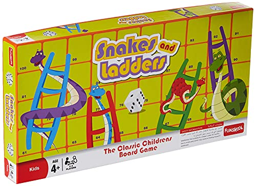 Funskool Games – Snakes & Ladders, The classic children board game, kids & family, 2 – 4 players, 4 & above