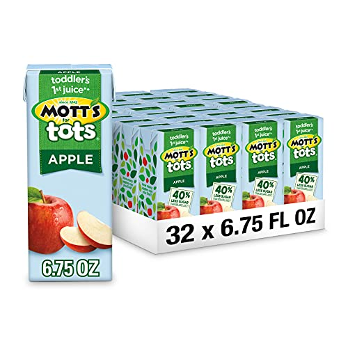 Mott's For Tots Apple, 6.75 Fluid Ounce Box, 8 Count (Pack of 4)