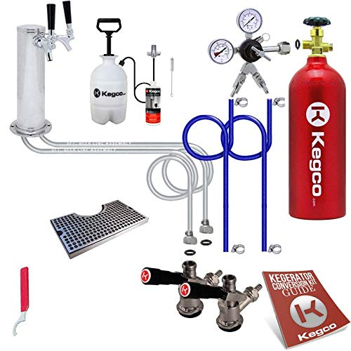Kegco 3PUTCK2-5T Kegerator Kit, 2-Tap, Chrome