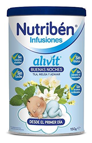 Nutribén Infusión Alivit Buenas Noches con tila, melisa y azahar desde el primer día, 150gr.