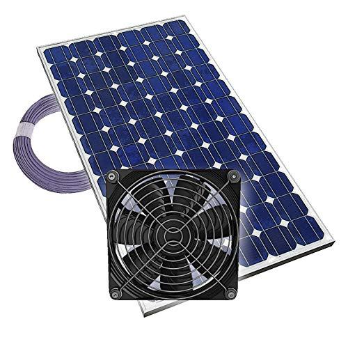 Gewächshauslüfter Solarlüfter Plug & Play Lüfter Solar Treibhaus, 12V, komplett