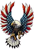 Screaming American Flag Bald Eagle with Black Tips Large Decal is 12.0' in size from the United States