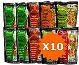 Pasta Shirataki di Konjac Miracle Noodle, Nuova Generazione, scatola assortita da 10 pacchetti da 200g cad.(contiene: 4 Spaghetti, 2 Fettuccine, 2 Penne, 1 Angel Hair e 1 Riso)