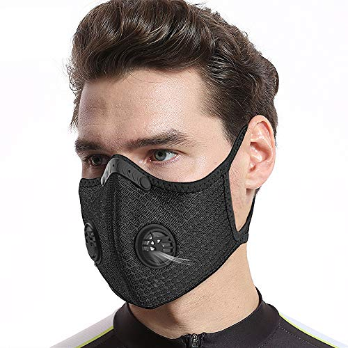 GUOO Masks Face Outdoor Cycling Sports Dust_ Mask Reusable Carbon Activated 1PCS Black