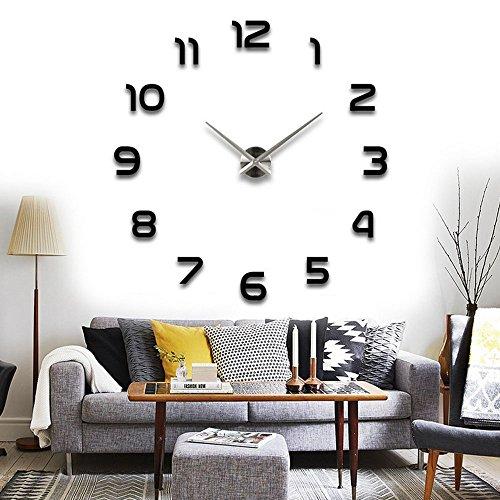 Vktech手作り DIY 壁時計 ウォールクロック  ウォールステッカー  時計を壁面に自由自在に設置できます 部屋装飾 模様替えに  簡単 おしゃれ!全10種類 (No.7)