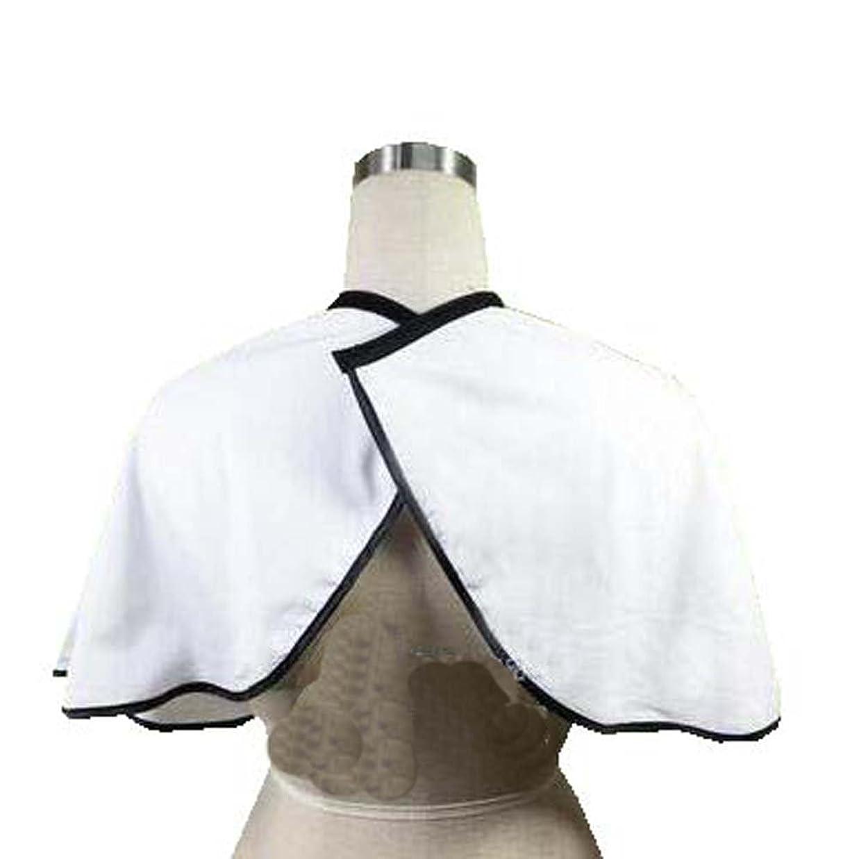 母音皮肉なホバークライアントのためのヘアサロンのスモック、プロのサロンクライアントのガウンの短い布