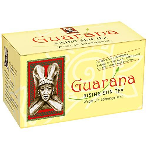 BADERs Guarana Rising Sun Tea de la farmacia. Té negro con guaraná. Despierta los espíritus. 20 bolsas filtrantes