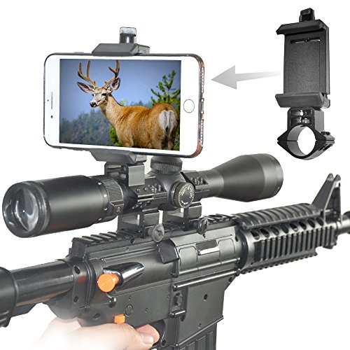 SOLOMARK 1' (25.4mm) Rifle Scope Adapter Ring/Mount for Cellphone Mount Holder to Capture Image and Video When You are Hunting