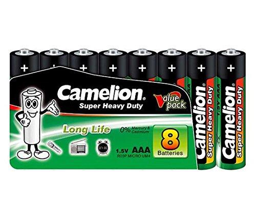 Camelion Super Heavy Duty Green 8er Packung Batterien Micro AAA R03, UM4