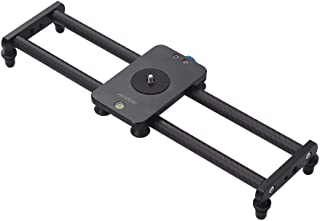 Andoer 15inch Carbon Fiber Camera Track Slider Video Stabilizer Rail with Mini Ballhead Phone Clamp for DSLR Camera Camcorder DV Film Photography Accessory Max.Load Capacity 5kg/ 11Lbs