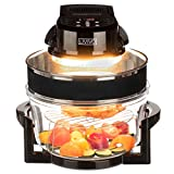 FiNeWaY Electric 17L Digital Halogen Air Fryer Oven with LED Display Extension Ring with Self Cleaning Function – 6 Pre-Heat Function Adjustable Thermostat – 180 Min Timer – Healthy Cooking – 1400W