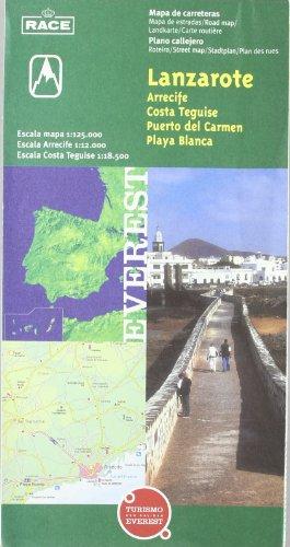Mapa provincial de Lanzarote, Arrecife, Costa Teguise y Puerto del Carmen: Mapa de carreteras. Plano callejero. (Mapas provinciales / serie verde)