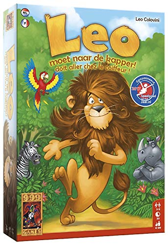 999 Games 999-Leo01 Leo Moet Naar De Kapper Bordspel Bordspel, Multikleur