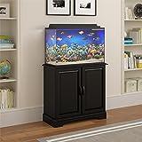 Flipper Harbor 29 - 37 Gallon Aquarium Stand, Black