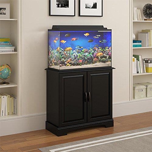 Flipper Harbor 29 - 37 Gallon Aquarium Stand, Black