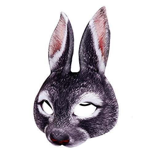 GSECRET Halloween Masker Realistische Pasen Half Gezicht Cosplay dierlijke rekwisieten Nachtclub Bunny Masker Party Elastische Band Halloween Bunny Kinderen Decoratie Leuke Vakantie