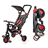 Galileo 3 in 1 Stroller Tricycle - No Assembly Required - Red