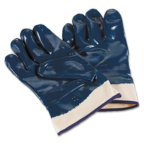 Ansell Hycron 27-805 Gants oléofuges, protection mécanique, Bleu, Taille 10 (Sachet de 12 paires)