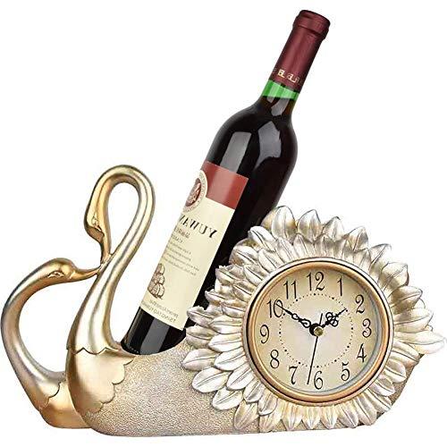 WYZQ Relojes de sobremesa Estante de Vino de pie Independien