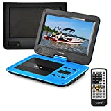 UEME Portable DVD Player with 10.1 Inches Screen, Car Headrest Mount Bag, Remote