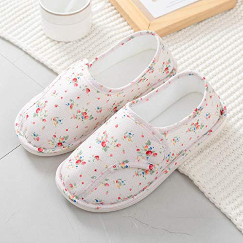 Heren Orthopedische Wide Fit verstelbare slipper,Dunne tas met opsluitschoenen, zwangerschaps-pantoffels-35_wit,Plantar Fasciitis sneakers Air Shoe