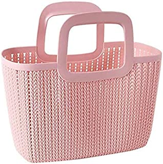 KARASELLY® Fruit and Vegetable Milk Grocery Silica Plastic Storage Big Hand Durable Basket Easy to Carry(Assorted Mix Desi...