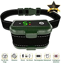 The Best Industries [NEWEST 2018 UPGRADED] Bark Collar - Smart Detection Module - Dual Stop Anti Barking Modes: Beep/Vibration/Shock for Small, Medium, Large Dogs All Breeds - IPx7 Waterproof