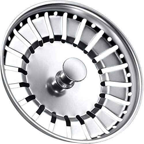 Tomario - Tapón para fregadero de cocina de acero inoxidable espesado para fregadero de cocina, diámetro del agujero 78 mm 84 mm (84, 1 PCS)