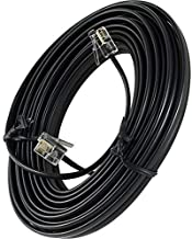 25' Feet Telephone Extension Cord Cable Line Wire, Black RJ-11
