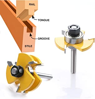 WREOW Tongue and Groove Router Bit 1/4
