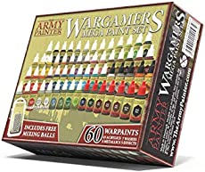 The Army Painter Miniature Painting Kit with 100 Rustproof Mixing Balls Model Paint Set with 60 Nontoxic Acrylic Paints for Wargamers Miniatures Hobby Paint Set