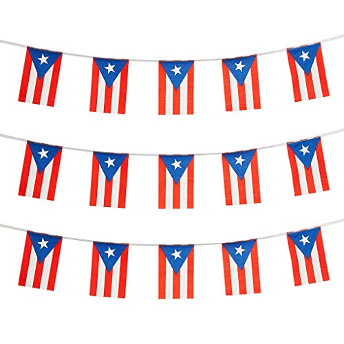 Puerto Rico Flags Puerto Rican Small String Mini Flag Pennant Banner Decorations