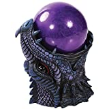 Pacific Trading Dragon Purple Sandstorm Battery Operated Ball Figurine Made of Polyresin
