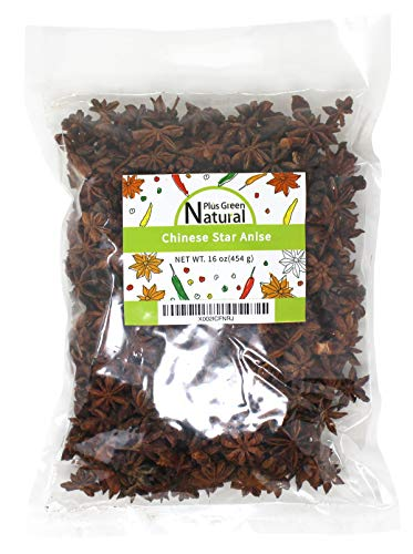Whole Star Anise Seeds Pods 16 Ounces, 100% Natural Whole Chinese Anise Star Pods Sun Dried Spice, Anis Estrella/Badian Khatai/ Illicium Verum, Widely Used for Baking, Cooking, and Tea