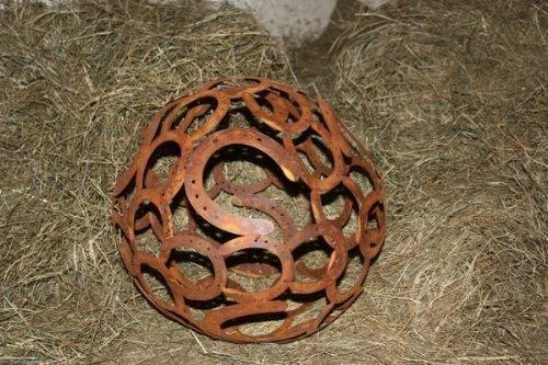 Rostikal De Rouille Fer Boule de Décoration, Rouille Noble Metal, L Décoration de Jardin, Boule de Jardin Edelrost