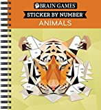 Brain Games - Sticker by Number: Animals - 2 Books in 1 (Geometric Stickers)