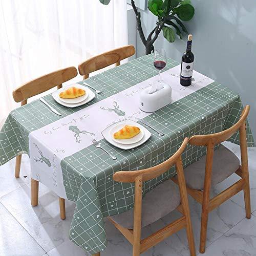 Mantel Mesa Rectangular Manteles Mesa De Centro Mantel A Prueba De Agua A Prueba De Aceite, Anti Escaldado Escritorio, Dormitorio, Sala De Estar,A-137X180