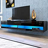 CIdkem 180 Wall Mounted Floating Media Consoles Hanging TV Console for 80 inch...