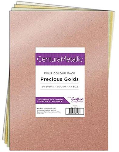 Centura CPM A4 Metallic Metallisch Kartenset Edel e 36 Blatt-Precious Golds, Cardstock, 29.6 x 21 x 10.5 cm