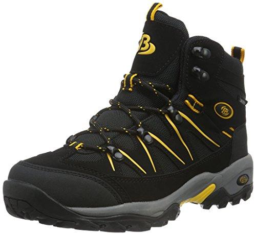 Bruetting MOUNT HUNTER HIGH, Unisex-Erwachsene Trekking- & Wanderschuhe, Schwarz (SCHWARZ/GELB), 48 EU (14 Erwachsene UK)