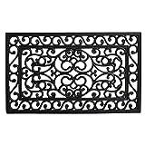 Calloway Mills 103602439 Serendipity Rubber Doormat, 24' x 39', Black