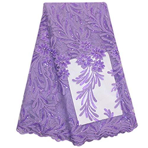 Nieuwe Witte Afrikaanse Kant Stof 2020 Hoge Kwaliteit Kant Nigeriaanse Vrouwen Bruidsjurk Borduren Sequin Bead Franse Tule Kant Stof, als foto