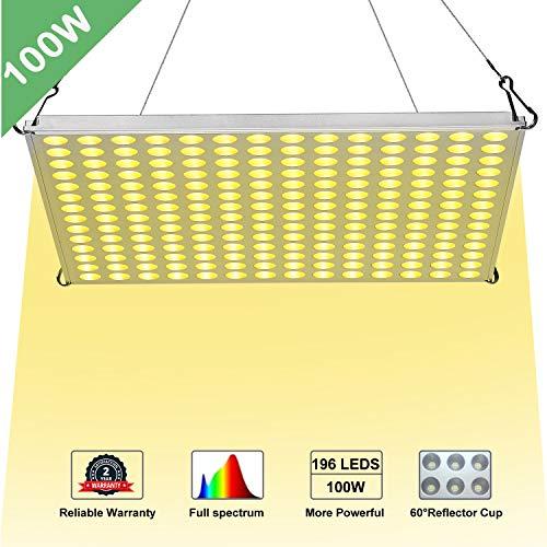 LED Grow Light 100W YGROW Full Spectrum Grow  Light Lamps  Bulbs  for  Indoor   Plants  ,Garden,Flowers,Vegetables,Greenhouse 2019 Newest