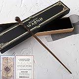 GAYBJ Cedric, Lupin Wand con la Cinta Caja de Tapa Dura, 14' Harry Potter Series de caña, De Halloween y Accesorios del Regalo de la Varita mágica,Lupin