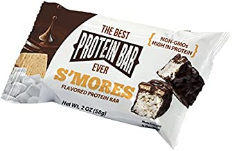 The Best Protein Bar Ever - 10 Bars - Smores - Sports Performance Nutrition With Lepticore 100% Satisfaction Guarantee (10)